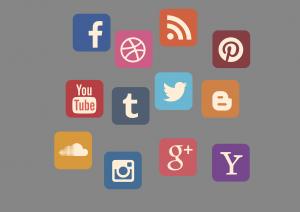 icon set, social media, contact